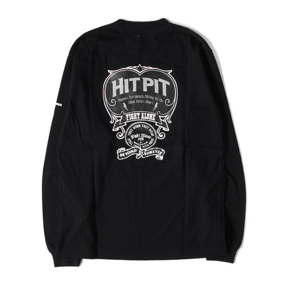 HITPITエンブレムプリントロングスリーブTシャツ