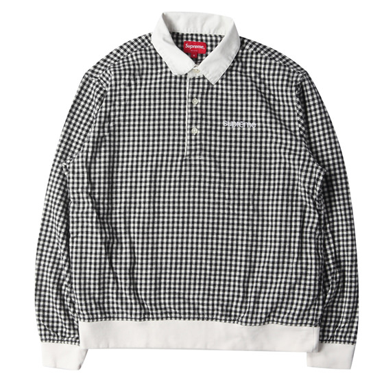 17SS ギンガムチェック長袖ポロシャツ(Gingham L/S Polo)