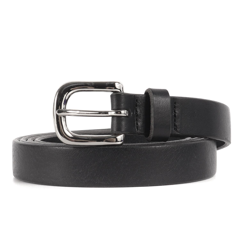 Bell la bell Mens Itarian Buttero Leather Belt Casual Roller Buckle M Dark Brown