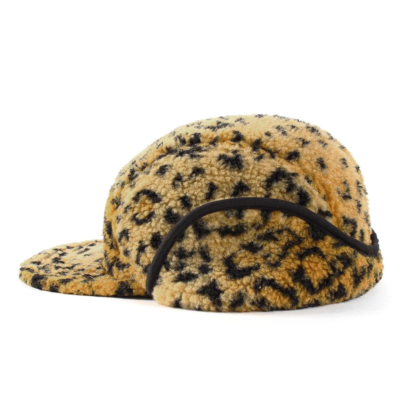 Poii Qon Beanie Hat American Flag Leopard Skull Cap for Woman Man