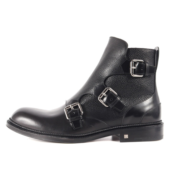 Ikon 3776 Revolver Mens Black Leather Chelsea Boots 60S Rock