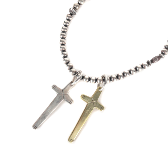 16S/S クロスビーズネックレス(CROSS BEADS NECKLACE 174) silver925/ K10