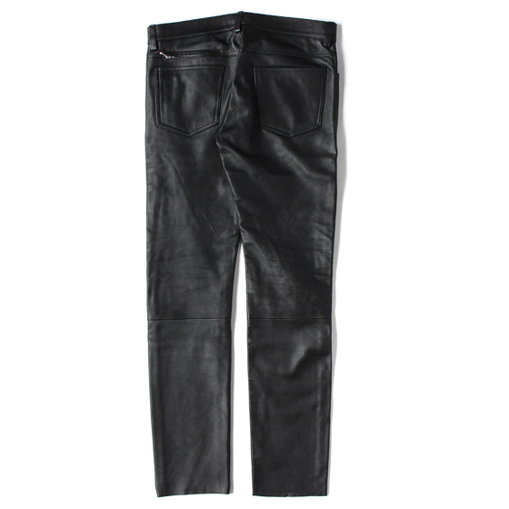 16AW ×JAMES GROSE ラムレザースリムパンツ(LEATHER SLIM FIT PANT)