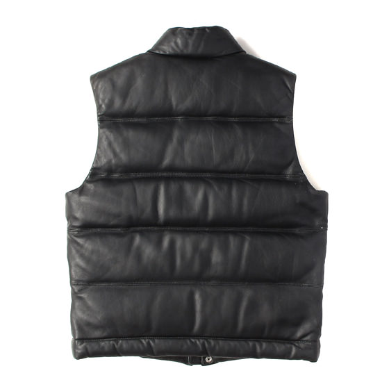 09AW ラムスキンレザーダウンベスト(Leather Puffy Vest)
