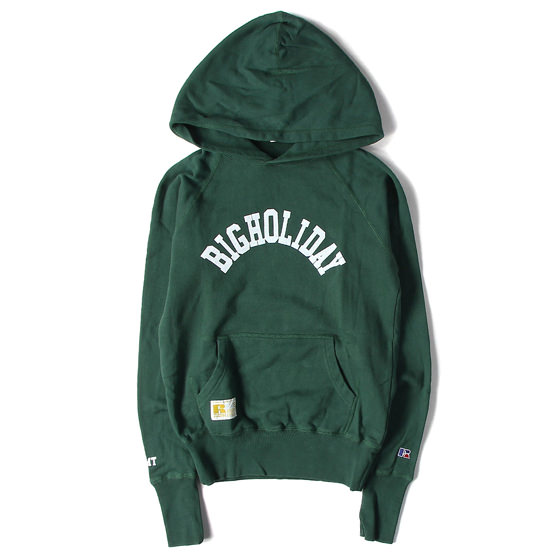 15AW ×RUSSELL ATHLETIC BIGHOLIDAYロゴスウェットパーカー
