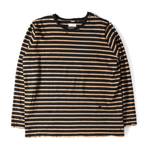 16A/W ダメージ加工ビッグサイズボーダーカットソー(OVER SAILOR TOP)