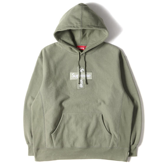 20AW クロスBOXロゴスウェットパーカー(Cross Box Logo Hooded Sweatshirt)