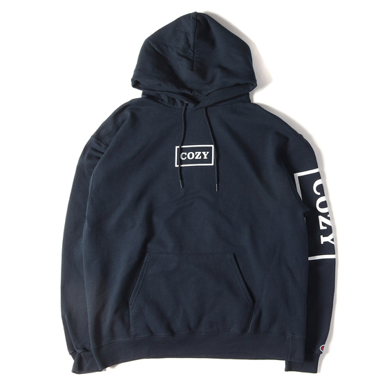 18A/W ×Champion BOXロゴスウェットパーカー(THE CHAMP HOODY)