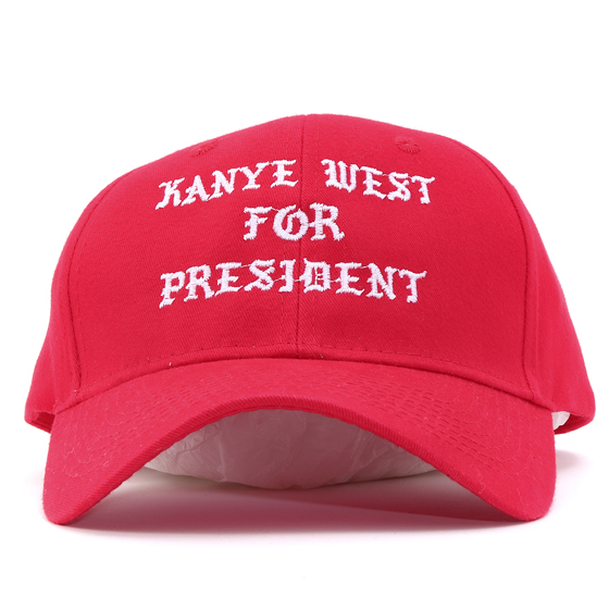 Kanye West For Presidentロゴ6パネルキャップ