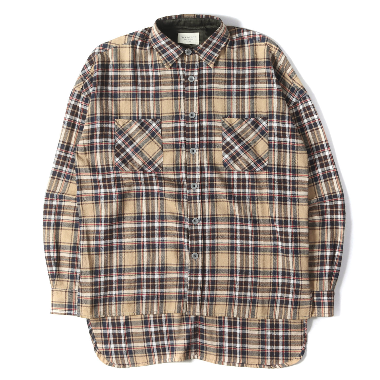 16AW ビッグサイズチェックフランネルシャツ(FOURTH COLLECTION / FLANNEL SHIRTS)
