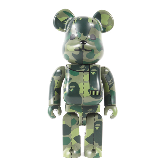 ×MEDICOM TOY BE@RBRICK BAPE 400% GREEN CAMO(2005年製)