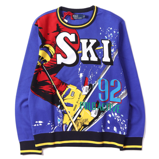 18A/W DOWNHILL SKIER 復刻 SKI 1992 POLO ACTIVE スウェット
