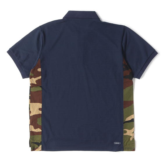 17S/S サイドカモ鹿の子ポロシャツ(CAMOUFLAGE SIDE PANEL POLO)