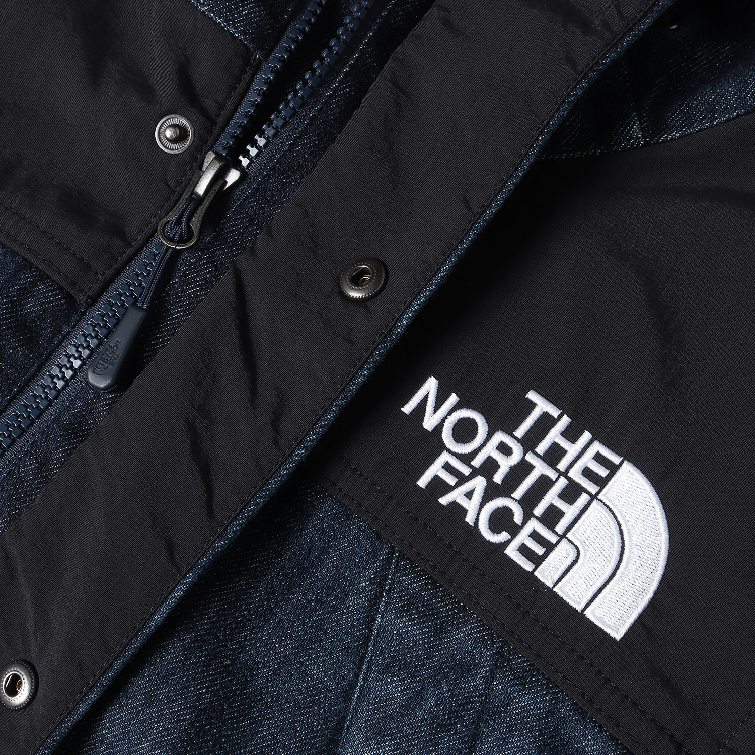 15SS ×The North Face デニムマウンテンジャケット(Denim Dot Shot Jacket)