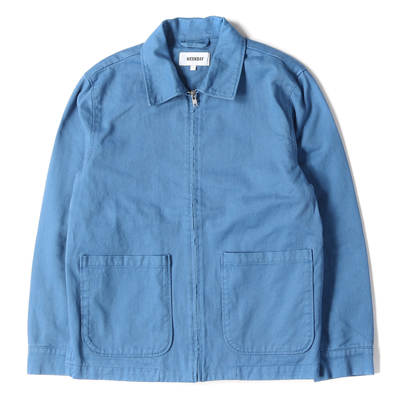 19S/S USED加工コットンフルジップワークジャケット(CAMP WASHED JACKET)