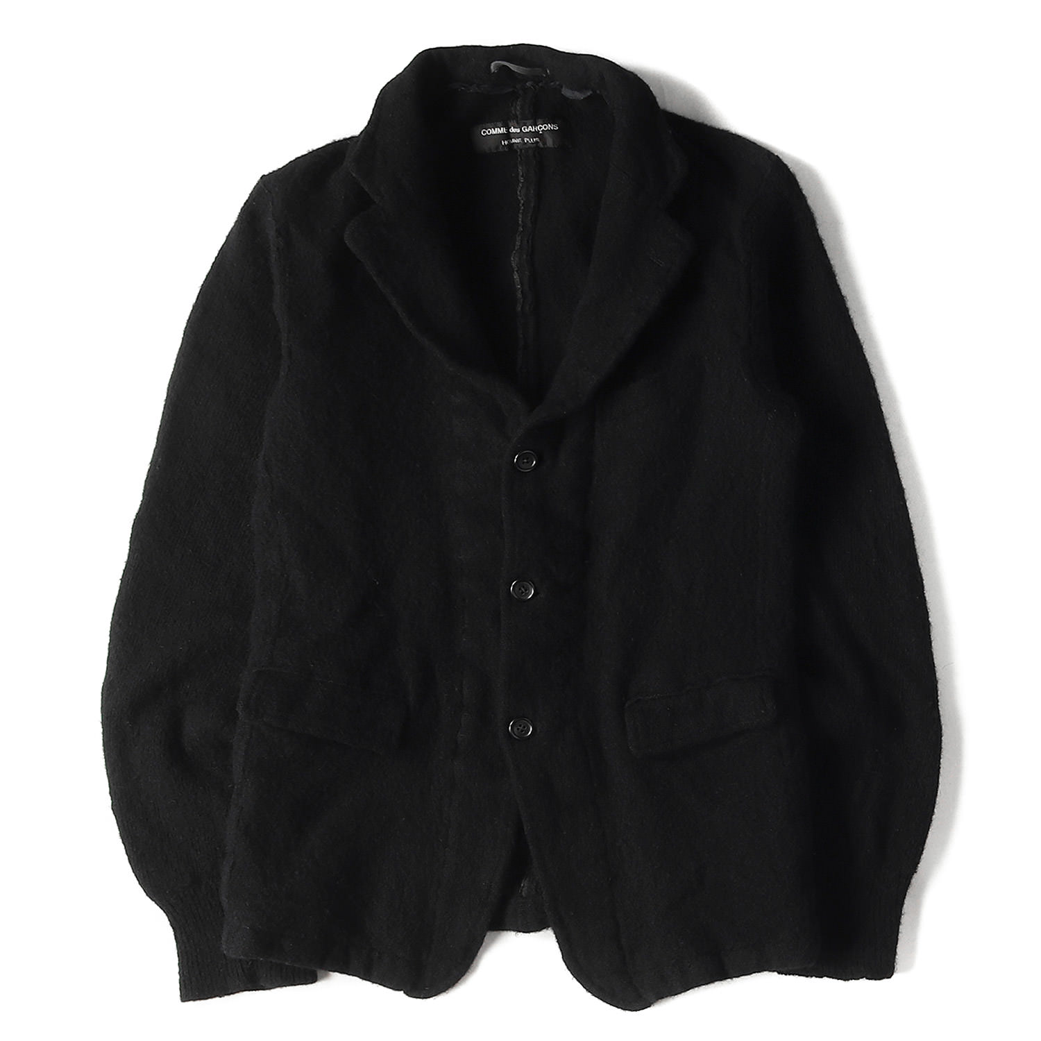 94A/W 縮絨加工ドッキングウール3Bテーラードジャケット COMME des GARCONS HOMME PLUS