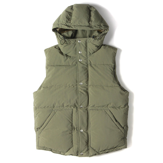 18AW フード付きダウンベスト(HIKER DOWN VEST POLY WEATHER Cubetex)