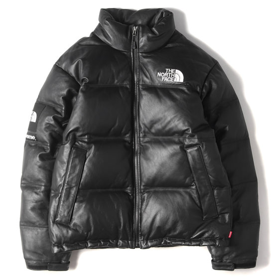 17AW ×THE NORTH FACE レザーヌプシダウンジャケット(Leather Nuptse Jacket)
