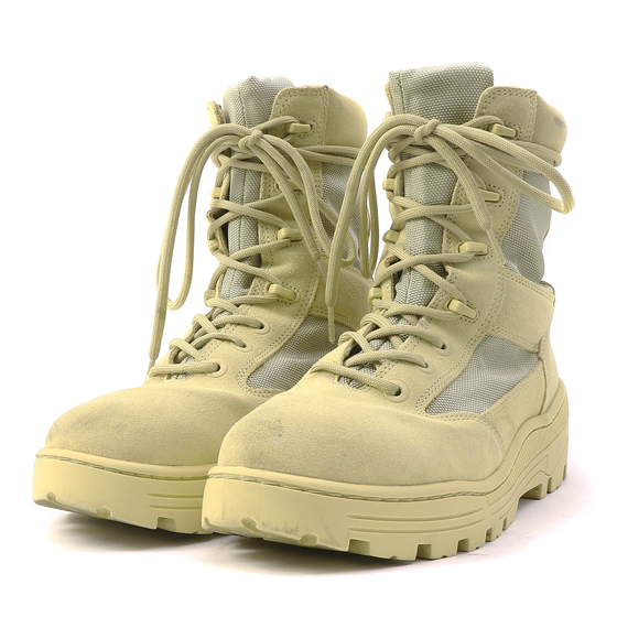 17A/W コンバットブーツ(Season 4 / SAND NYLON AND SUEDE COMBAT BOOT)