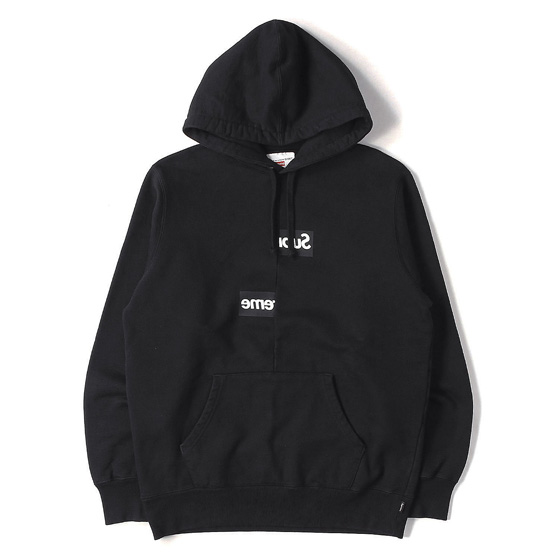 """Supreme""ファン注目の「18AW ×COMME des GARCONS SHIRT BOXロゴパーカー」入荷"